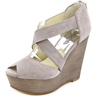 Michael Kors Women's Ariel Wedge Grey Suede Dress Shoes