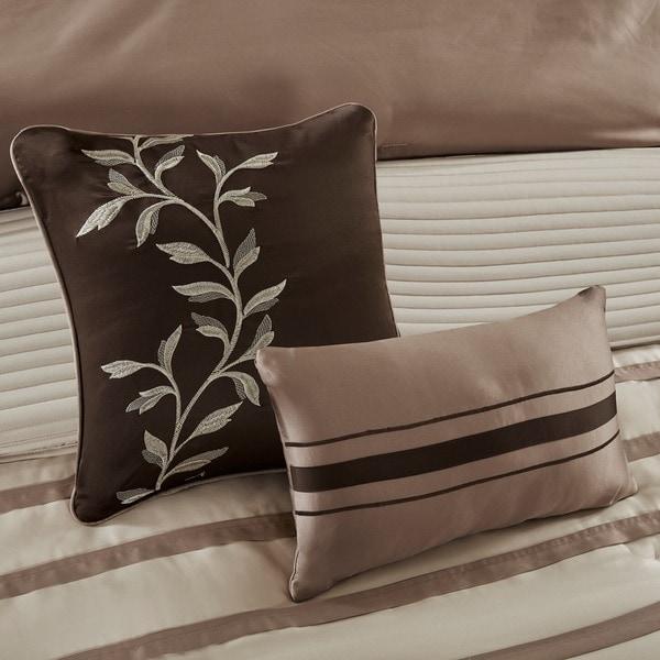 Madison Park Harlem Taupe 12-piece Jacquard Comforter Set