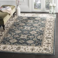 Safavieh Lyndhurst Traditional Oriental Teal/ Cream Rug - 7' Square