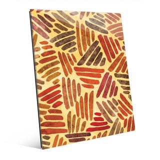 'Island Wind' Multicolor Abstract Wall Art Printed on Glass