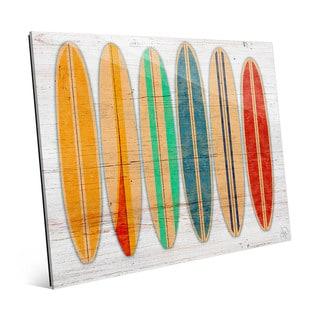 'Surfboards' Glass Wall Art