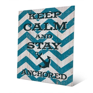 'Keep Calm and Stay Anchored' Multicolor Abstract Wall Art Printed on Metal