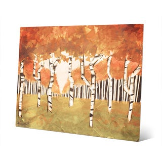 Forest Autumn Multicolored Metal Wall Art