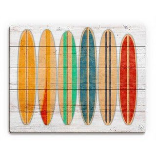 'Surfboards' Wall Art on Wood