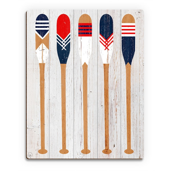 'Patriot Paddles' Wall Art on Wood