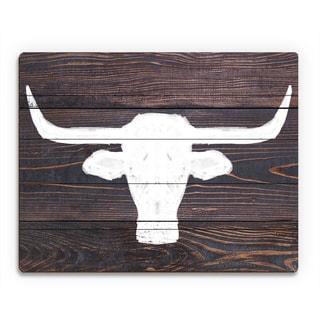 'Longhorns on Wood' Wall Art on Wood