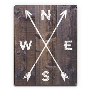 'Direction Arrows' Wall Art On Wood