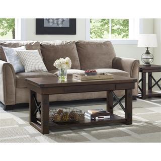 Ameriwood Home Wildwood Wood Mahogany Veneer Coffee Table