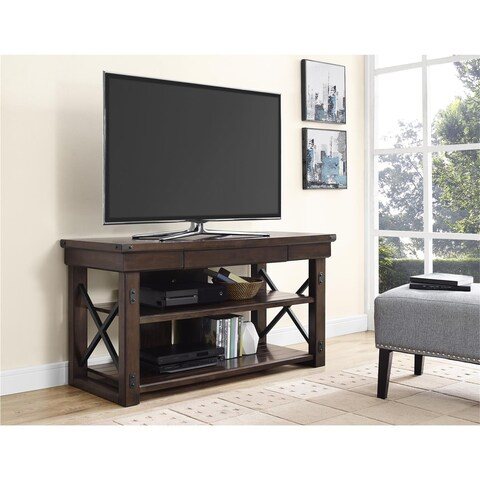 Ameriwood Home Wildwood Espresso Wood Veneer TV Stand for TVs up to 50 inches