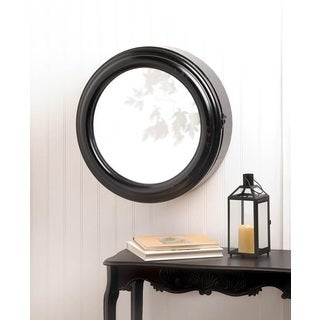 Avalon Modern Round Wall Cabinet With Mirror