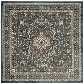 Safavieh Lyndhurst Traditional Oriental Teal/ Grey Rug (7' Square)