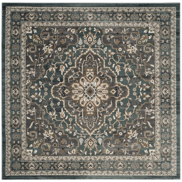 Shop Safavieh Lyndhurst Traditional Oriental Teal/ Grey