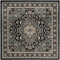 Safavieh Lyndhurst Traditional Oriental Anthracite/ Teal Rug - 7' Square