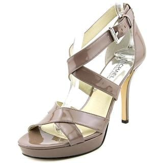 Michael Kors Women's 'Evie Platform' Grey Patent Leather Dress Shoes