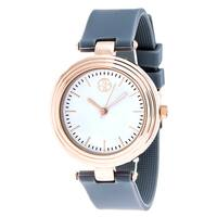 Fortune NYC Rose-Gold Alloy Case w/ Stainless Steel Back and Grey Silicon Strap Watch