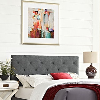 Terisa Grey Full Fabric Headboard