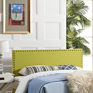 Modway Phoebe Wheatgrass Fabric Full Headboard with Wood Frame