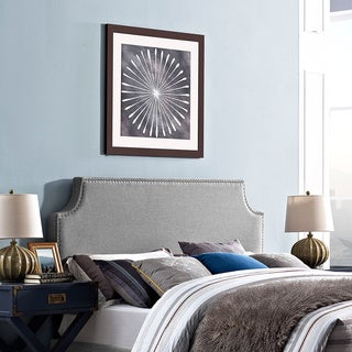 Laura Light Grey Full Fabric Headboard