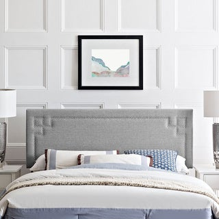 Modway Josie Light Grey Polyester/Solid Wood Full-size Headboard