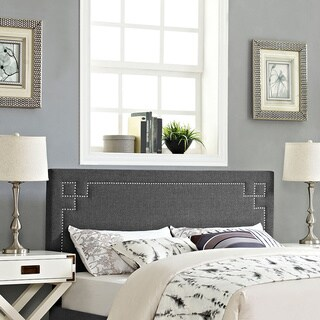 Josie Grey Fabric/Wood Full Headboard