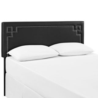 Modway Josie Black Vinyl Full Headboard