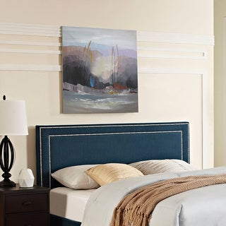 Jessamine Azure Full Fabric Headboard