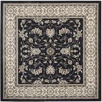 Safavieh Lyndhurst Traditional Oriental Anthracite/ Cream Rug - 7' x 7' Square
