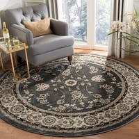 Safavieh Lyndhurst Traditional Oriental Grey/ Cream Rug - 7' Round