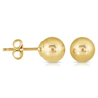 Marquee Jewels 10k 6mm Yellow Gold Ball Stud Earrings
