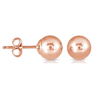 Marquee Jewels Women's 10k Rose Gold 6-millimeter Ball Stud Earrings