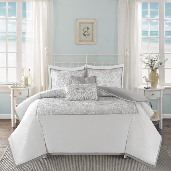 Harbor House Cranston White Cotton Duvet Set