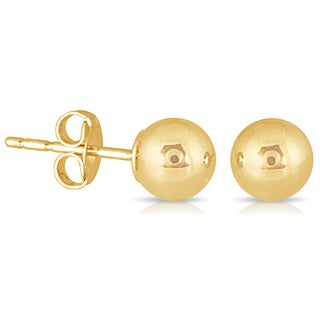 Marquee Jewels 10k Yellow Gold 4-millimeter Ball Stud Earrings
