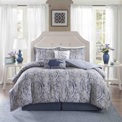 Harbor House Stella Cotton Sateen Printed 6 Piece Comforter Set - Multi