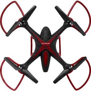 Quadrone X HD Black Plastic 4-blade Drone
