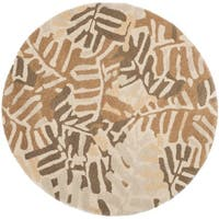 Martha Stewart by Safavieh Palm Grove Spud Wool Rug (8' Round)