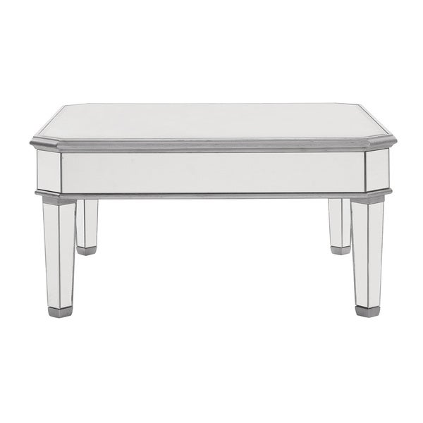 Low Square Mirrored Coffee Table: Shop Elegant Lighting Chamberlan Mirrored Square Coffee
