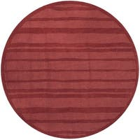 Martha Stewart by Safavieh Freehand Stripe Vermillion Wool Rug - 8' Round