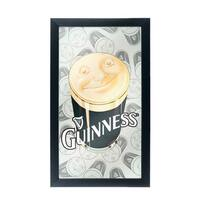 Guinness Framed Mirror Wall Plaque 15 x 26 Inches