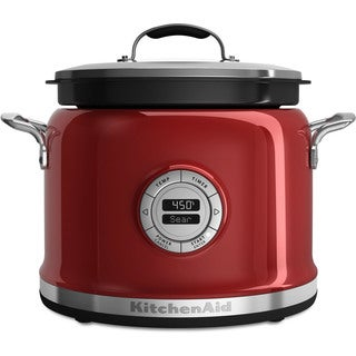 KitchenAid KMC4241CA Candy Apple Red 4-Quart Multi-cooker