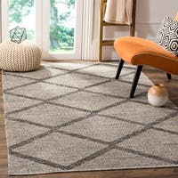 Safavieh Montauk Hand-Woven Flatweave Diamond Black/ Ivory Cotton Rug - 6' X 6' Square