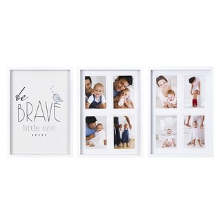Melannco 'Be Brave' 8-opening Collages (Set of 3)