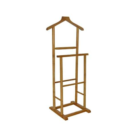 Benzara Urban Port Men's Double Suit Valet Stand with Suit Hanger