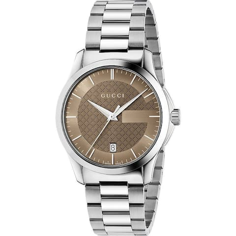 Gucci Men's YA126445 G-Timeless Medium Stainless Steel Watch - Multi