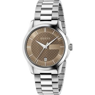 Gucci Men's YA126445 'G-Timeless Medium' Stainless Steel Watch