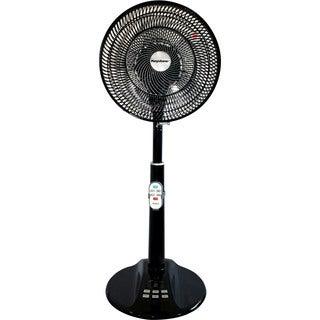 Keystone Black 12-inch Table-to-floor Air Accelerator DC Motor Remote Control Fan