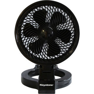 Keystone Black Plastic 7-inch Convertible Fan