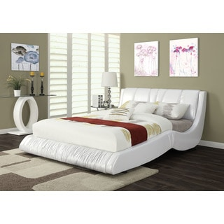 Nathan Platform Eastern King Bed, White PU