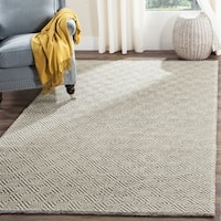Safavieh Handmade Natura Southwestern Ivory / Light Grey Wool / Cotton Rug - 6' Square