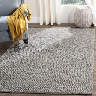 Safavieh Handmade Natura Southwestern Camel / Grey Wool / Cotton Rug - 6' Square