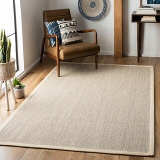 Safavieh Casual Natural Fiber Marble/ Beige Sisal Area Rug - 10' square